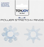 Transparetní modré kroužky POWER STRETCHY RINGS BLUE